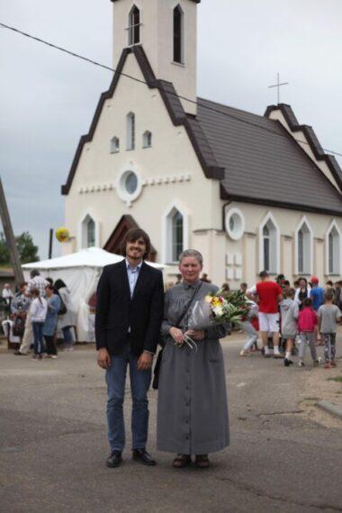 An Ursuline took part in chapel consecration in Liubcha.