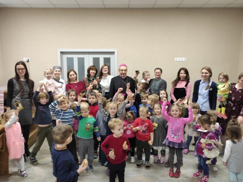 Archbishop Tadeusz Kondrusiewicz visited the Social Centre